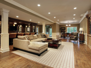 finished basement in Acworth, GA